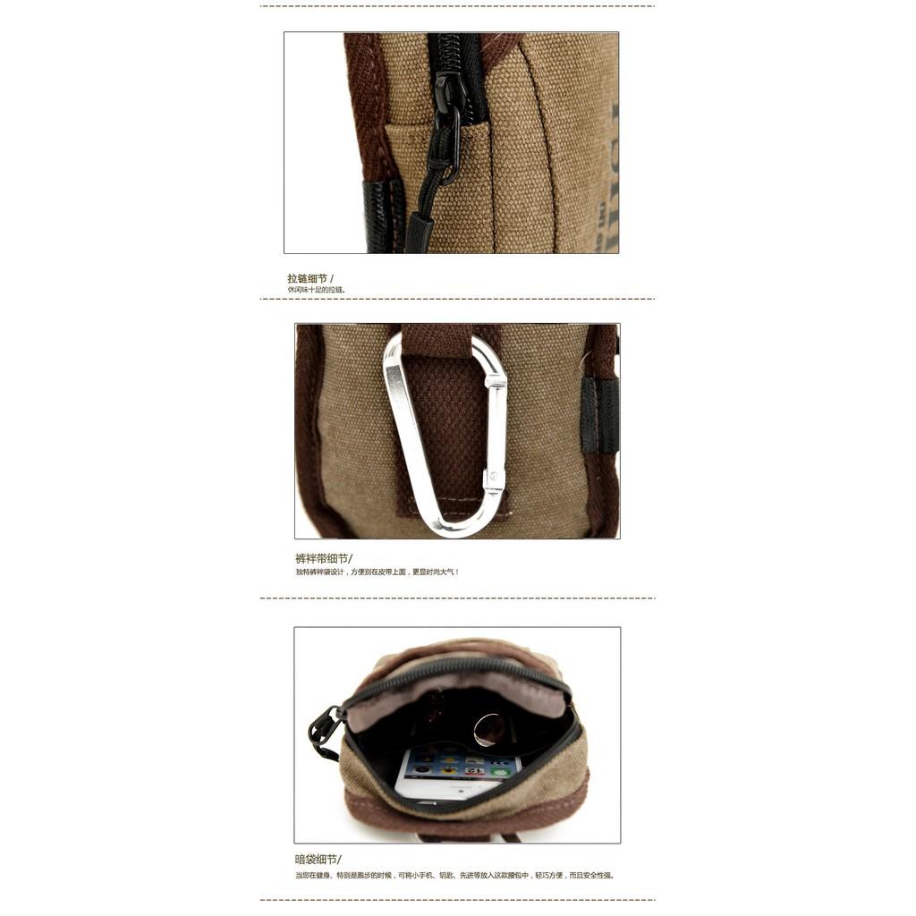 Tas Tactical Pinggang Dompet Sarung Hp Army 1199 Kepala Sleting Tali Pounch Exlusive Pouch Handphone Case Waist Belt Travel Bag Murah Meriah
