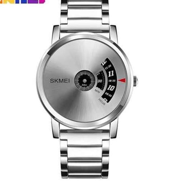 Jam Tangan Pria Casual Unik SKMEI 1260 Original Anti Air - Silver !! | Shopee
