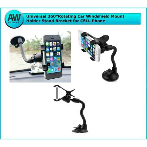 360 Rotating Suction Cup Car Windshield Mount Plastic Holder Bracket | Shopee Indonesia