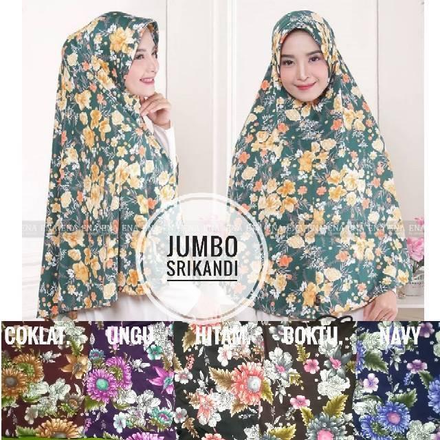 Jilbab Jumbo Khimar Jumbo Pinguin Motif Bunga Khimar Pet Antem Jilbab Umroh Haji Shopee Indonesia