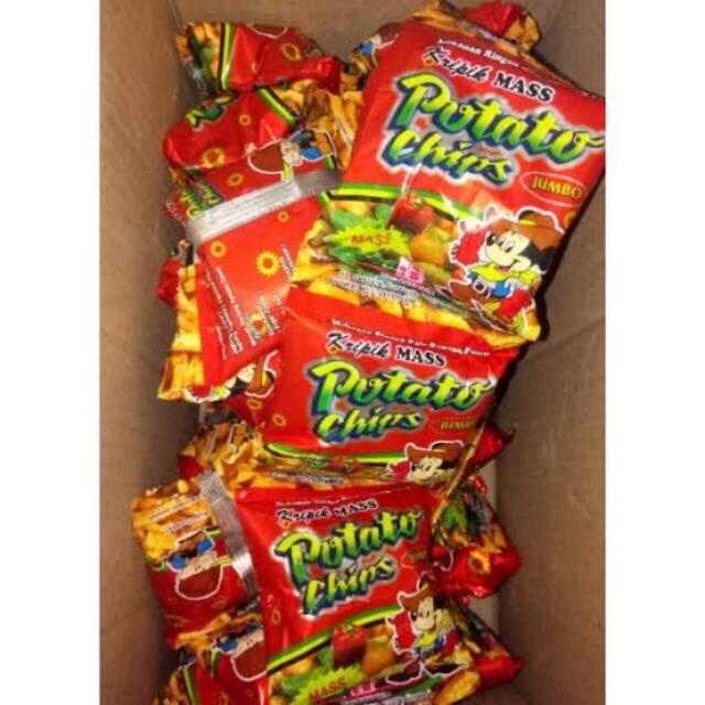Isi 10 Pcs Potato Chips Makanan Jadul Snack Kekinian Snack Murah