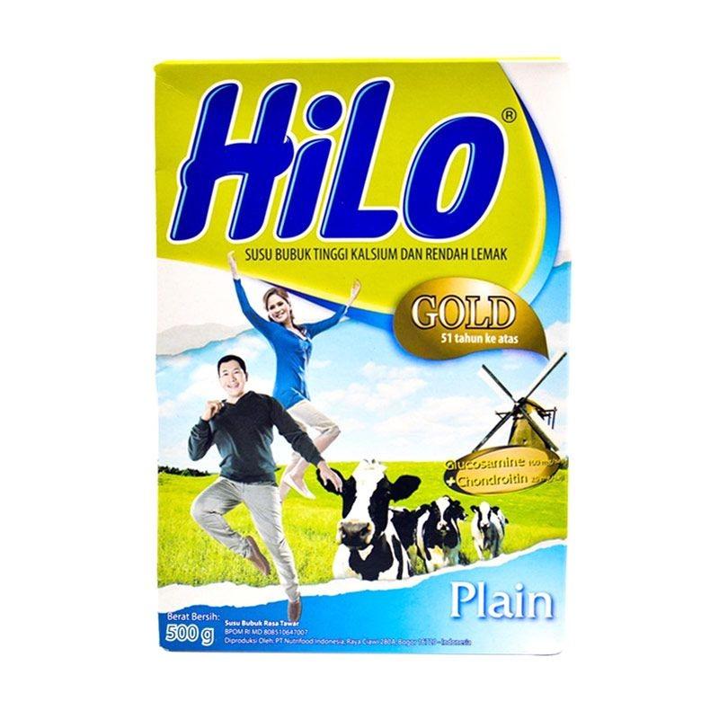 Hilo Gold Plain 500gr Susu Bubuk Hilo Untuk Usia 51tahun Keatas Shopee Indonesia