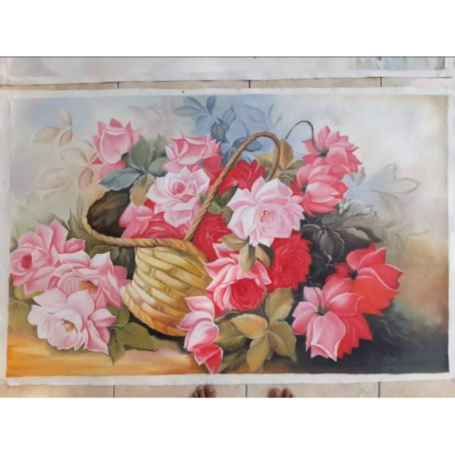 Lukisan Bunga Europa Uk 135x85cm Shopee Indonesia