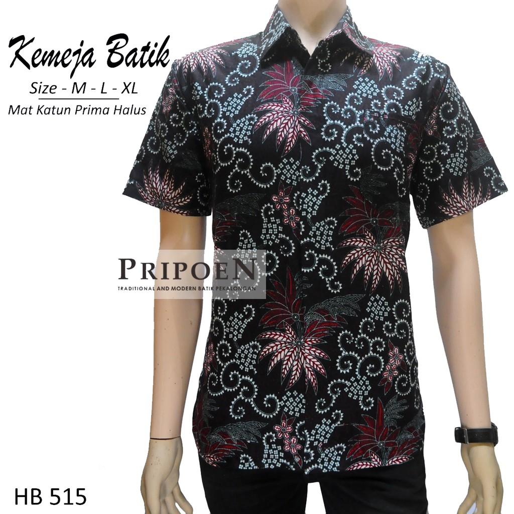 Pripoen Batik Baju Batik Pria Warna Grey  5deb2db8dc