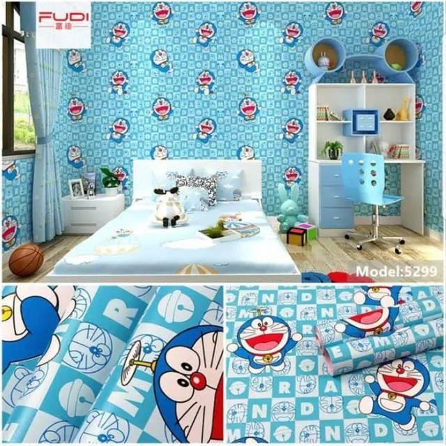 Wallpaper Dinding Motif Doraemon Kamar Anak Wallpaper Sticker