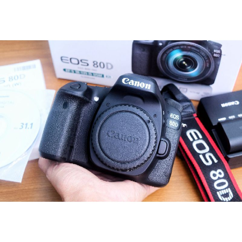 KAMERA CANON 80D BODY ONLY MULUS BANGET | CANON 80D