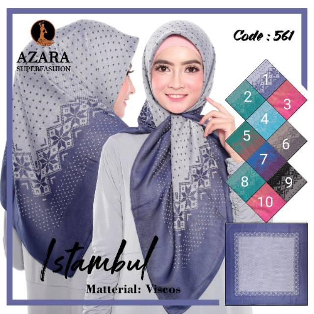 Hijab Azara Jilbab Segiempat Azara Motif Segi Empat Azara Segi 4 Azara Scarf Kerudung Tudung Shopee Indonesia