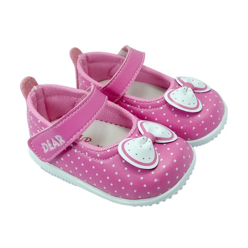 Javana Sepatu Bunyi Anak Bayi Pita Cantik Putih Fuchsia - tempat ... 1495e70daa