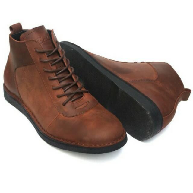 Sepatu Kulit Asli Pria Lecies Brown  4145b57762
