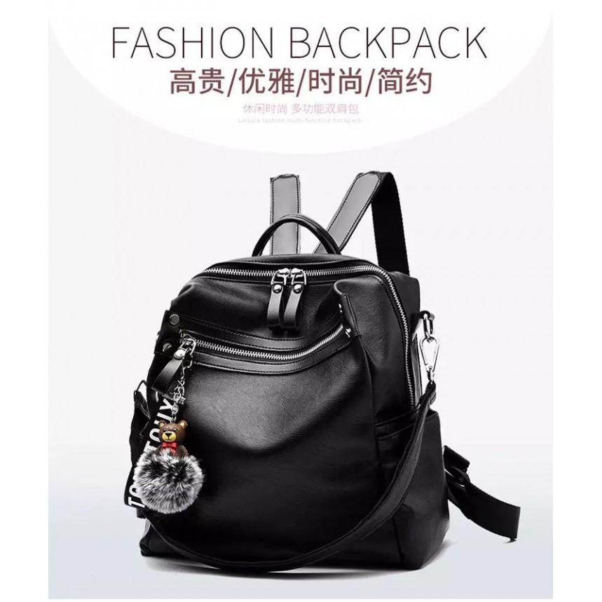 ransel kulit IMPORT supplier AGEN GROSIR TAS MURAH FASHION BAG WANITA KOREA  12273 backpack populer  1b7a68c197