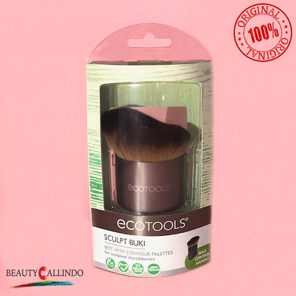 Ecotools 1654 Define Highlight Duo Shopee Indonesia Eco Tools 1600 Full Powder Brush