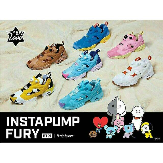 ff6be176a6a7  DP PO  BTS - BT21 X REEBOK ROYAL BRIDGE