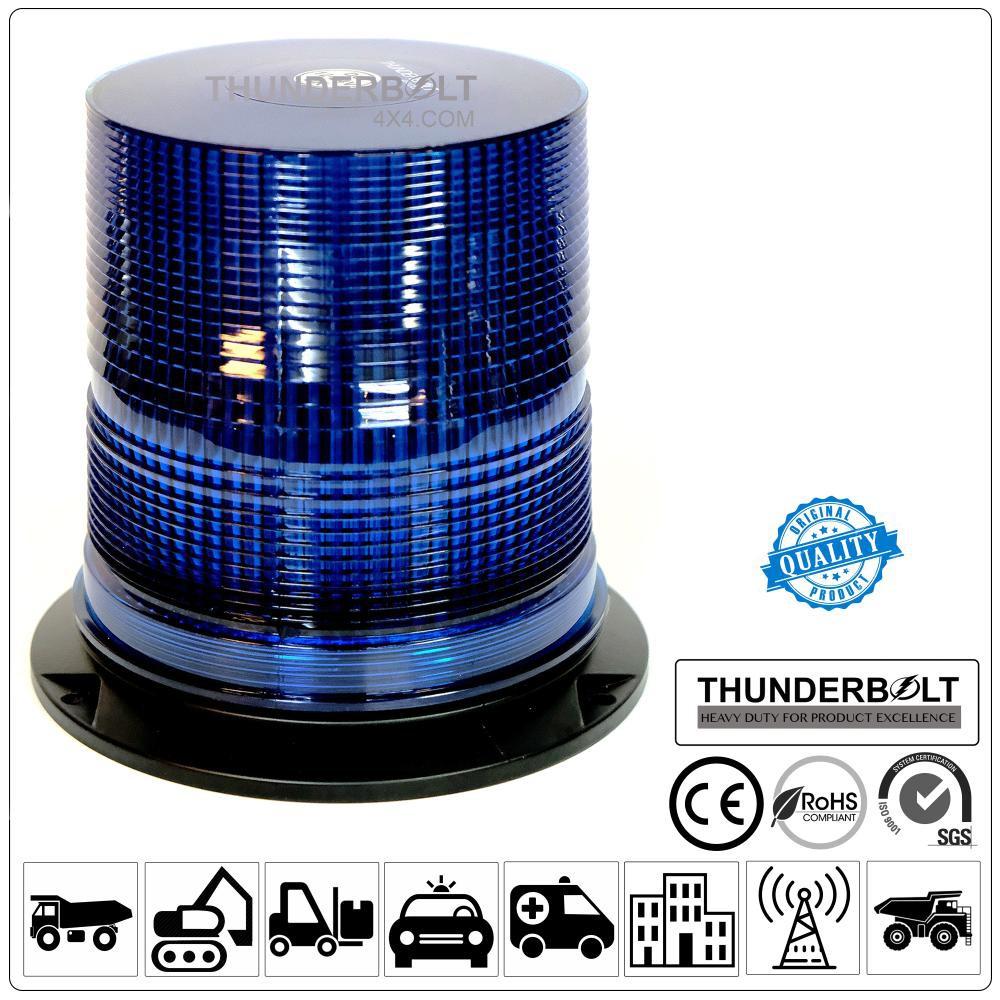 Lampu Rotary Flashtube Warna Putih Biru Amber VDC 12 48 Volt Warning Light Thunderbolt   Shopee