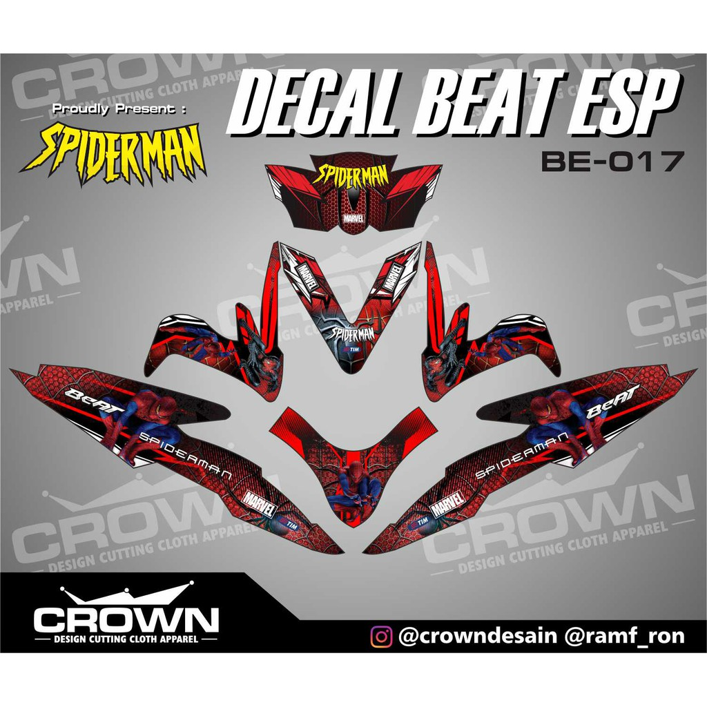 Decal beat esp owl shopee indonesia