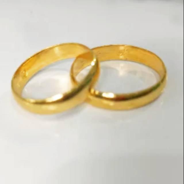 sepasang cincin emas asli kadar 875 cincin couple cincin nikah cincin tunangan