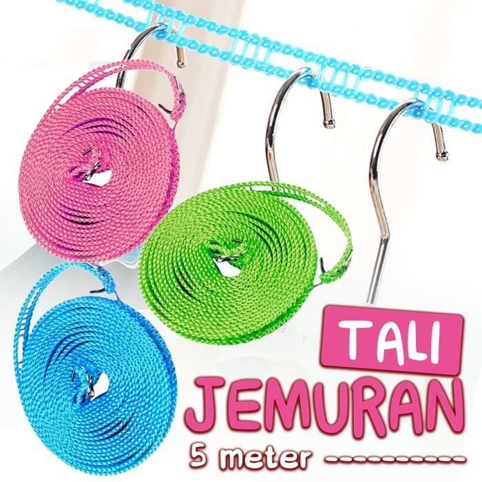 Travelmate Tali Jemuran Baju / Pakaian 5 M (meter) Praktis Gantungan Hanger | Shopee Indonesia