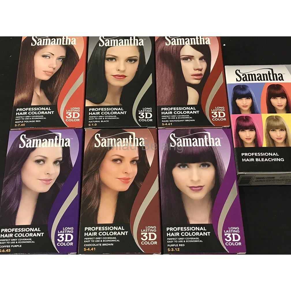Promo Samantha Professional Hair Colorant Cat Rambut Samantha