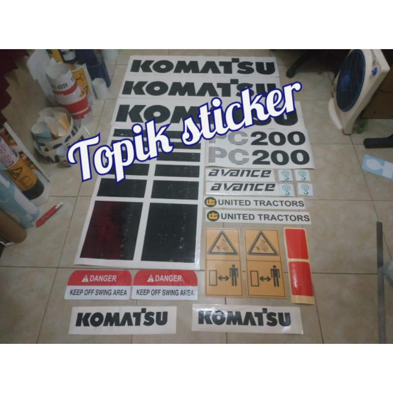 Sticker Excavator KOMATSU PC 200-6