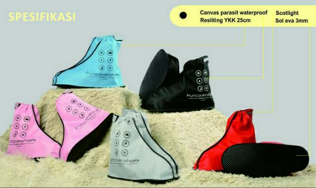 Jas Hujan Sepatu Cover Shoes Mantel Anti Air Fun Cover | Shopee Indonesia