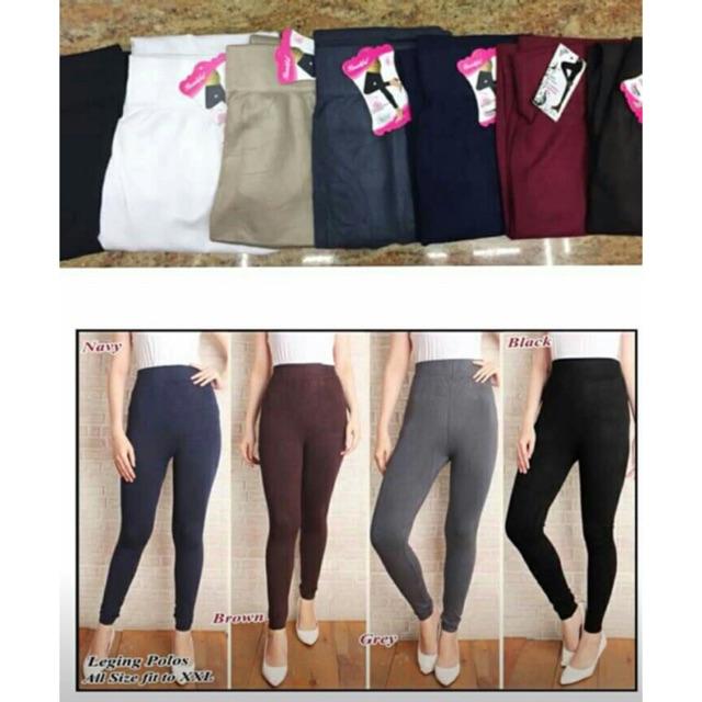 Celana Legging Panjang Bahan Kaos Import Shopee Indonesia