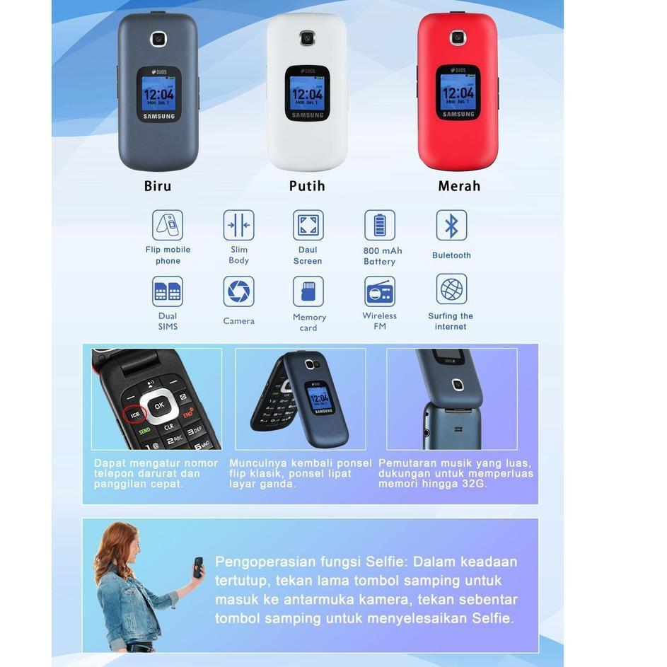 freeOngkir HP SAMSUNG LIPAT  GM-B311V DUAL SIM HP SAMSUNG B311