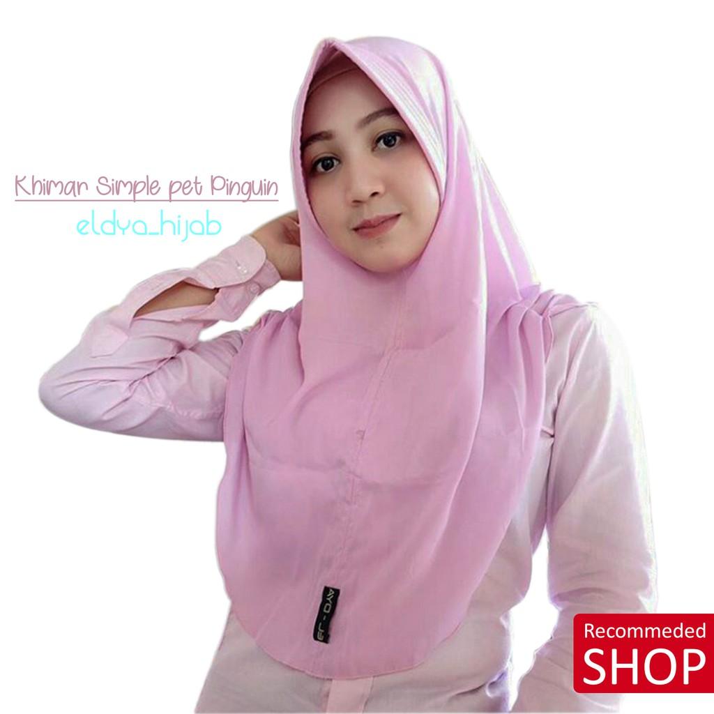 Khimar Pet Tali Original Eldya Jilbab Instan Semarnag Hijab Simple Shopee Indonesia