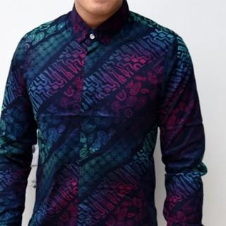 Kemeja Batik Pria Lengan Panjang Baju Kekinian Remaja Kerja Kantor ... ac56d24612