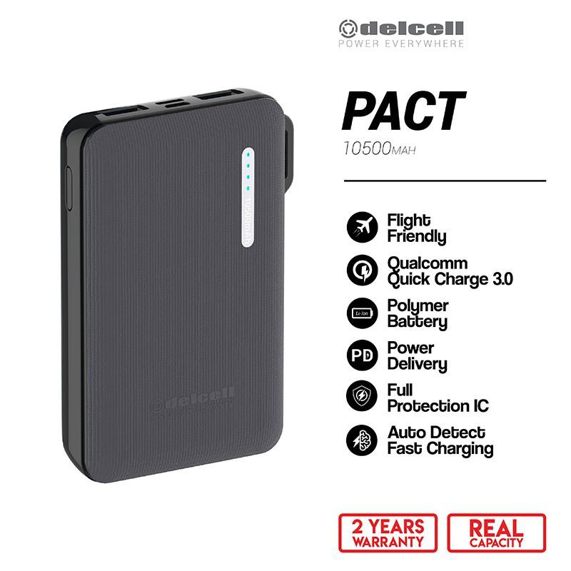 Delcell Pact Powerbank 10500 mAh Real Capacity QC PD