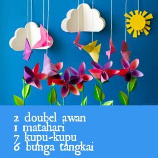 Diy Special Taman Bunga Fullset Origami Kertas Lipat Hobi Koleksi Dekorasi Seni Hiasan Shopee Indonesia
