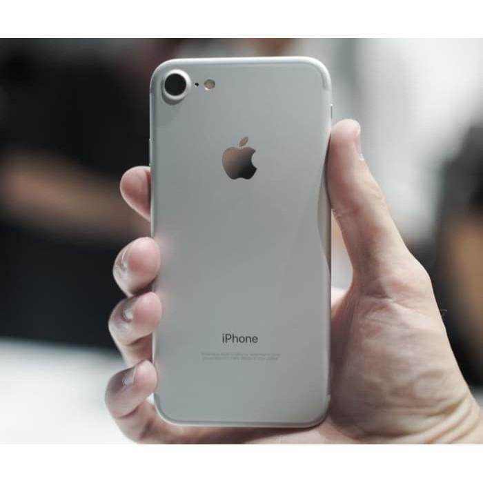 iPhone 7 128Gb Silver Second Original Fullset ex Inter [ HP / Tablet ]