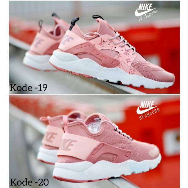 a91912dc058d4 uawshoesofficial I Sepatu Senam Wanita NIKE HUARACHE x LV x SUPREME WANITA  Sneakers Olahraga Wanita ...