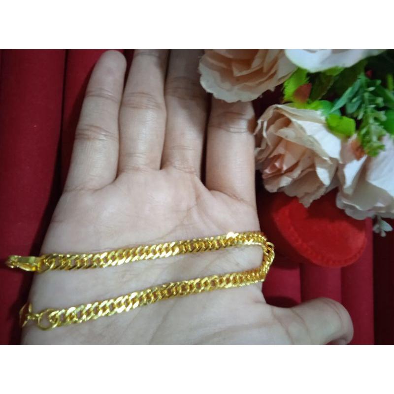 Emas asli emas muda kadar <5% gelang double susunsirih 5gram