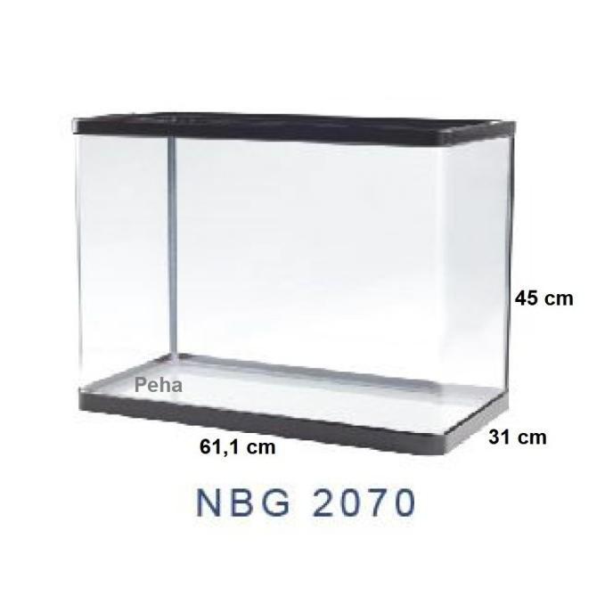 Produk Terbaik] Aquarium Ikan - Akuarium Nisso Manta - Kaca Lengkung P 60 Cm Nbg 2070