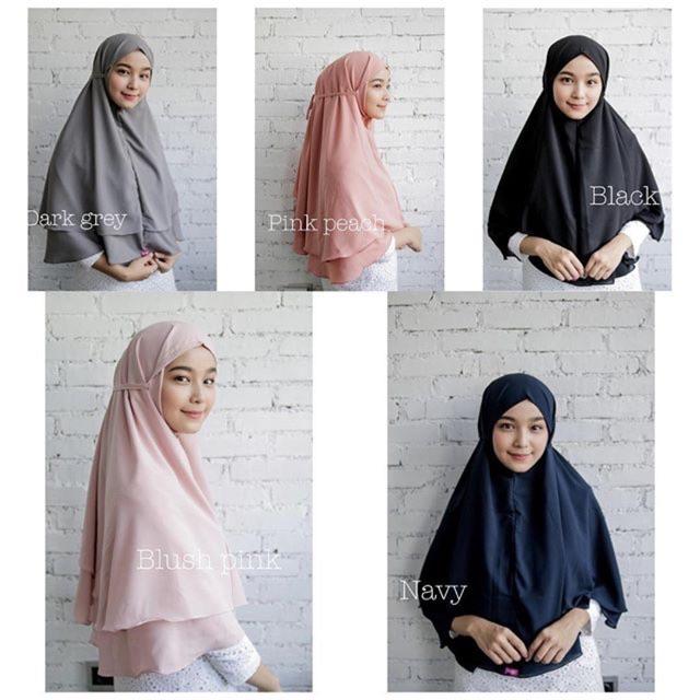 Jilbab Bergo Maryam Warna Mocca Model Hijab Terbaru