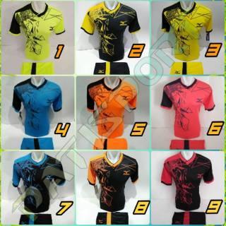 TERLARIS MIZUNO KACA PECAH [ MZ 13 ] Baju Kaos Olahraga Jersey Bola Setelan Futsal / Volly