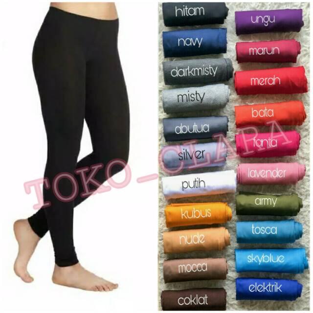 Restock Celana Legging Jersey Legging Polos Spandek Legging Senam Olahraga Gym Fitness Yoga Polos Shopee Indonesia