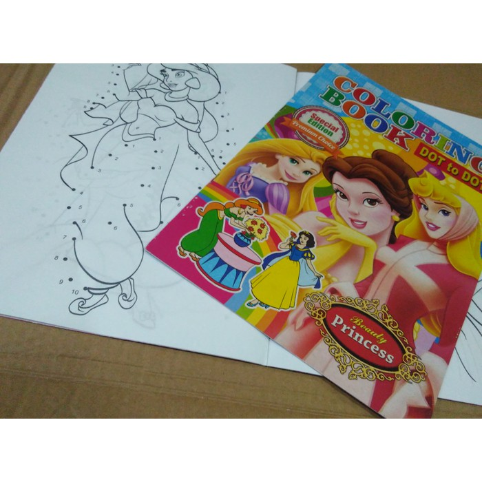 Buku Mewarnai Aktivity Coloring Book Dot To Dot Disney 0513 25