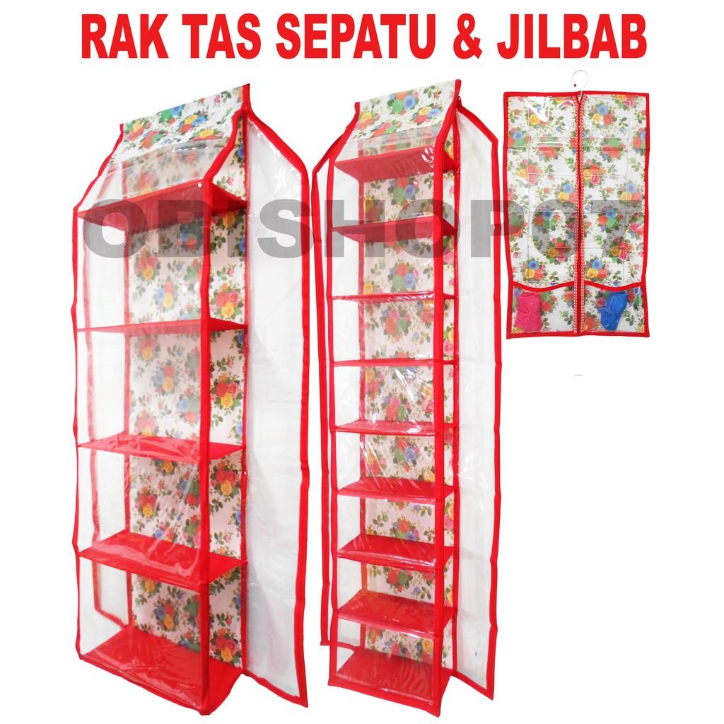 Paket Hbo Hso Hanging Bag Shoes Organizer Zipper Rak Tas Hboz Frozen Biru Gantung Retsleting Sepatu Resleting Bunga Fanta Shopee Indonesia