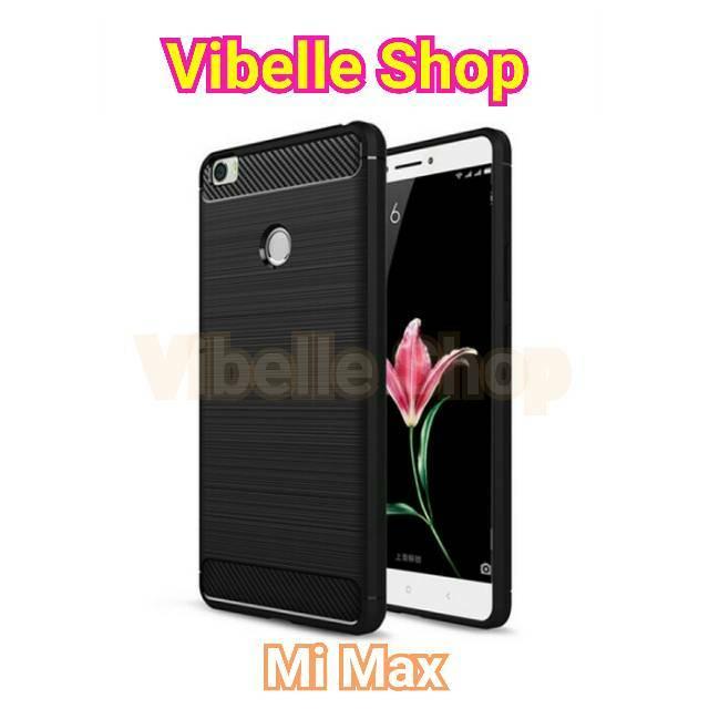 Softcase Soft Case Xiaomi Mi Max MiMax Viseaon Carbon Fiber TPU Rubber   Shopee Indonesia
