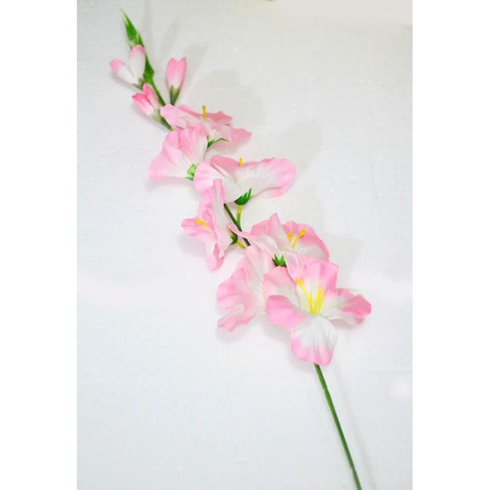 New Bunga Plastik Hias Artificial Gladiol Anggrek Setangkai Shabby Chic A2 Shopee Indonesia