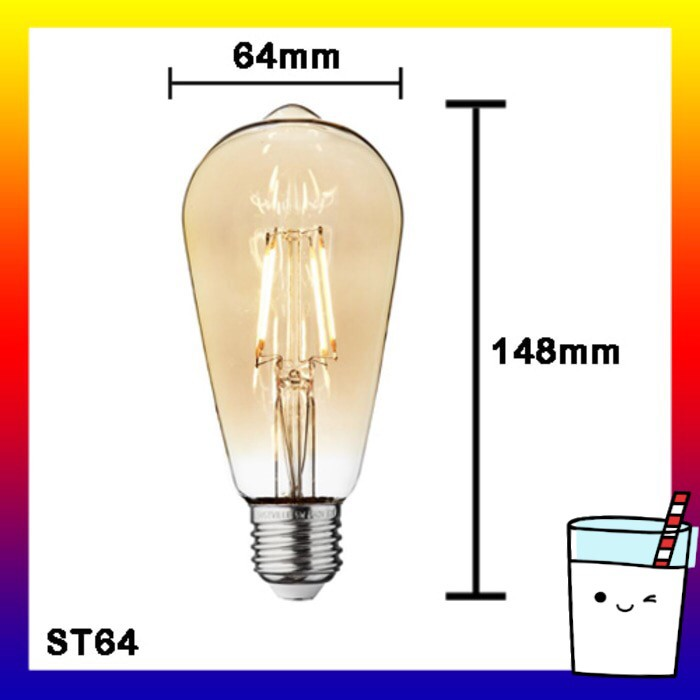 LAMPU LED FILAMEN EDISON RETRO CAFE G80 DIAMOND SHAPE 4W 4 WATT ANTIK CLASSIC VINTAGE | Shopee Indonesia