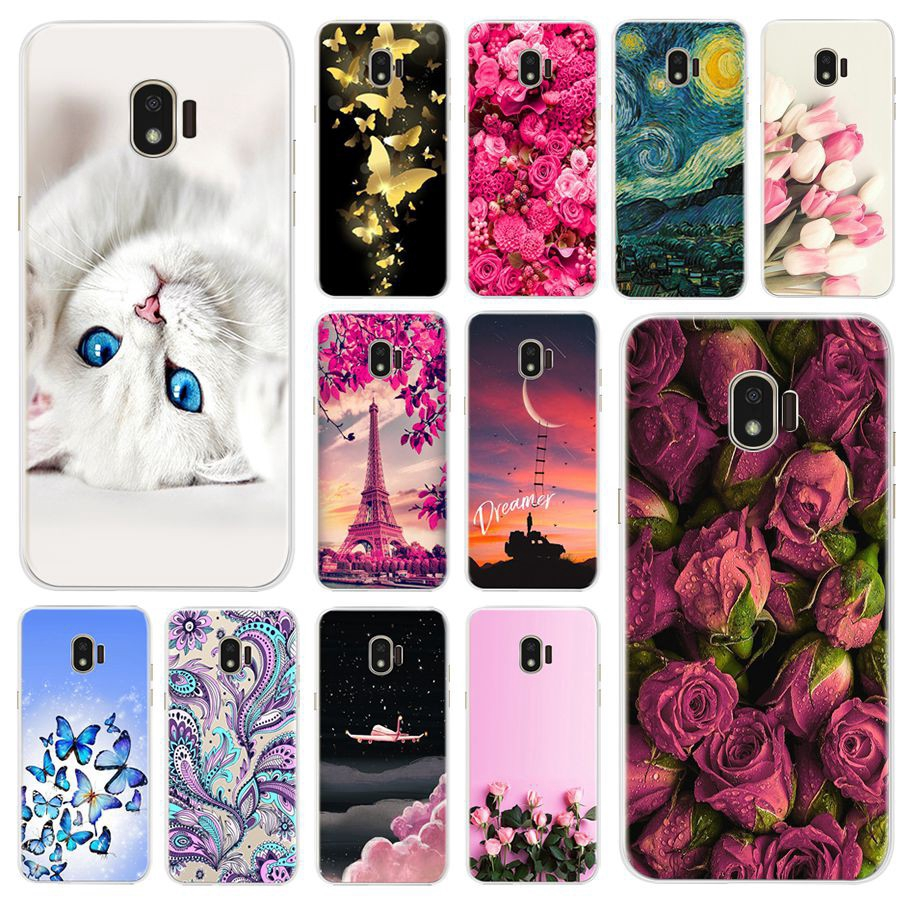 Casing Samsung J2 Pro 2018 Sm J250f Colorful Rose Painted Soft Case Samsung Galaxy J2 Pro 2018 5 0 Inch Phone Back Cover Shopee Indonesia