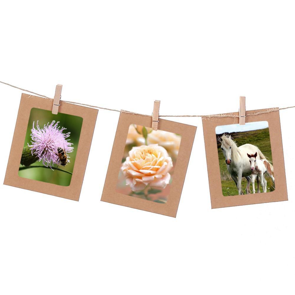 10Pcs Frame Kertas Gantung Kombinasi dengan Klip untuk Dinding / Foto DIY