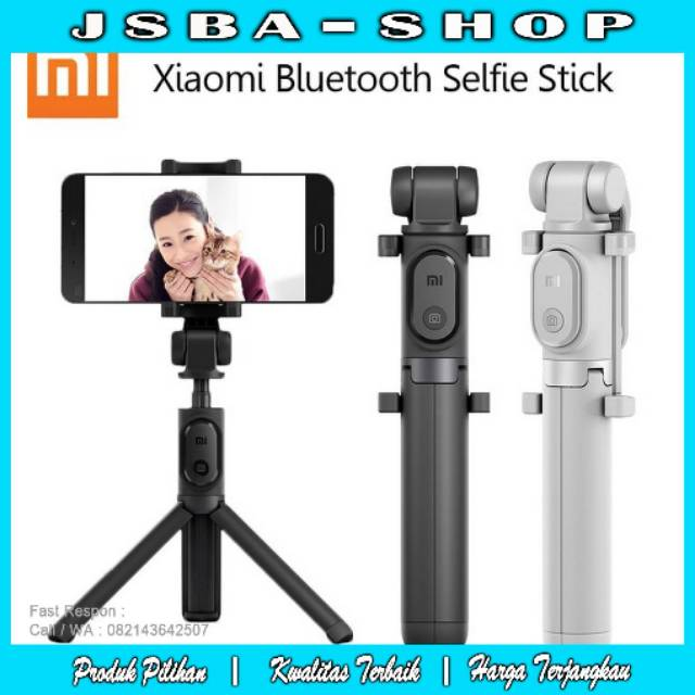 Gshop Tongsis 3 in 1 Selfie Stick Built In Bluetooth Tripod Gold + Lampu Selfie | Shopee Indonesia