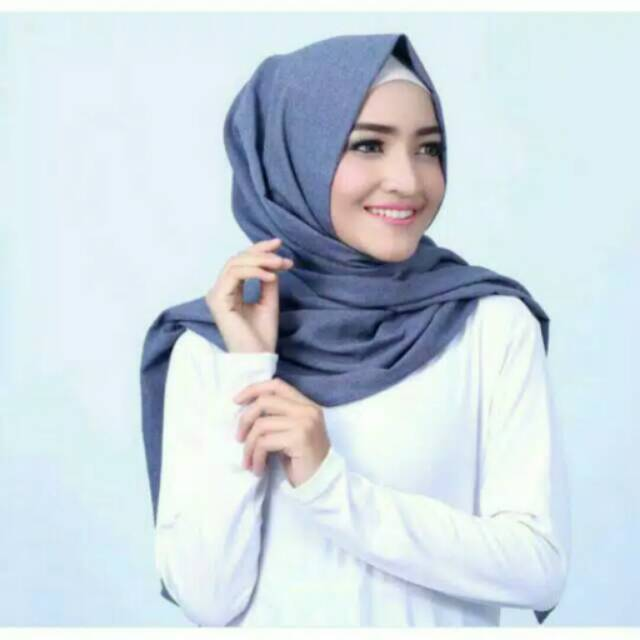 Gea Hijab Pashmina Supernova Denim Shopee Indonesia