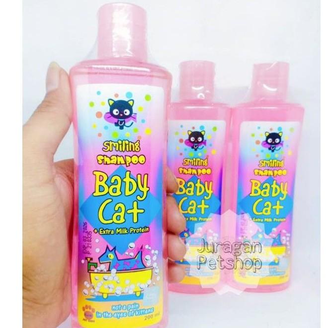 SMILING SHAMPOO BABY CAT 200ML | Shampo Kucing/Anjing | Shampo Hewan Raid All