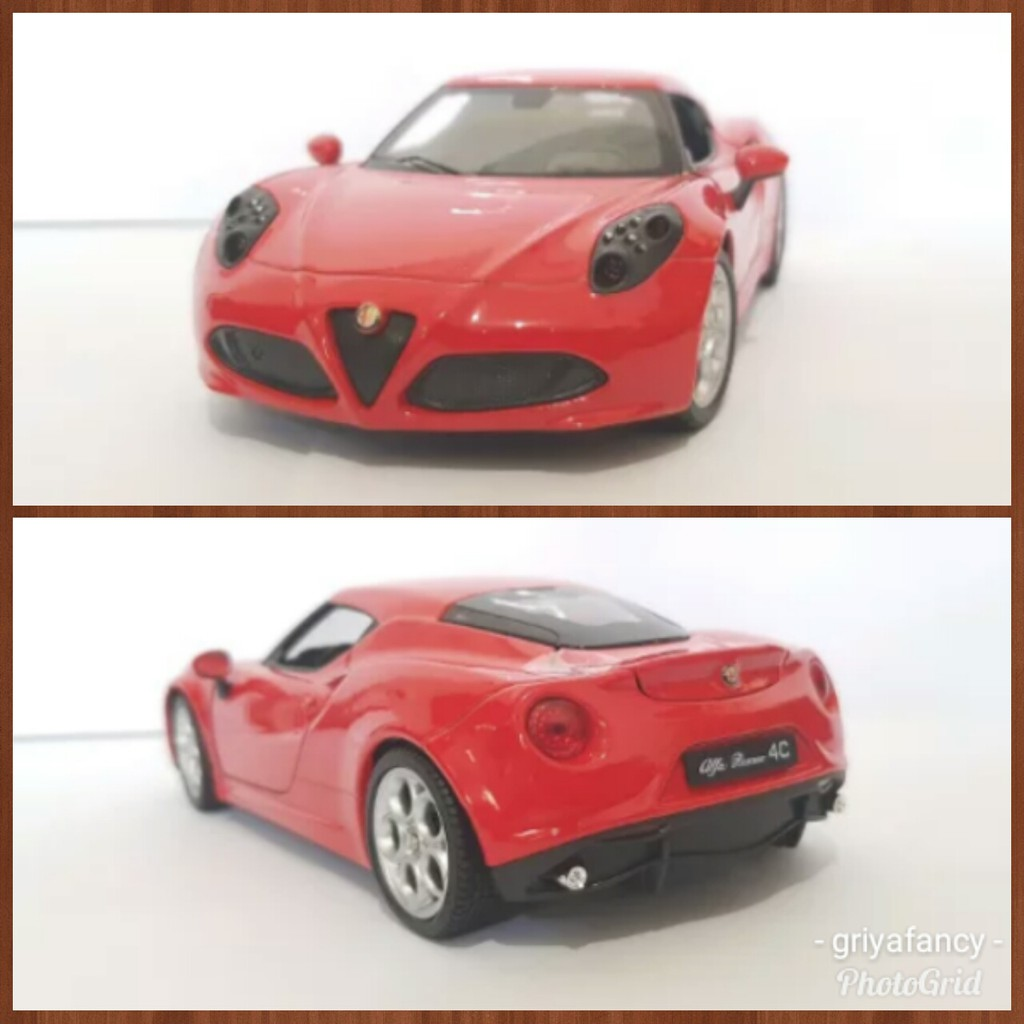 Alfa Romeo 4C >> Diecast Alfa Romeo 4c Welly Nex Skala 24