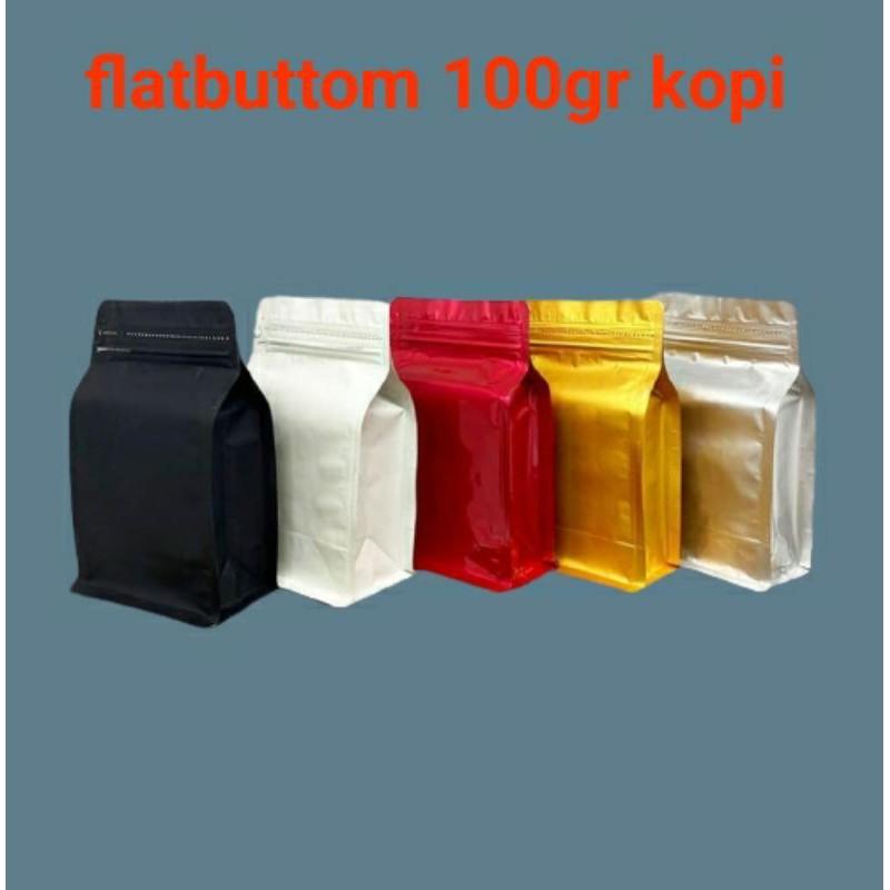 Kemasankopi: Kemasan Flatbuttom 9x15 Untuk 100gr Kopi