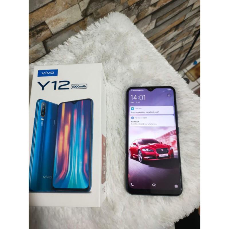 Handphone second vivo y12 3/32 hp seken/ bekas vivo y12 nomin fullset