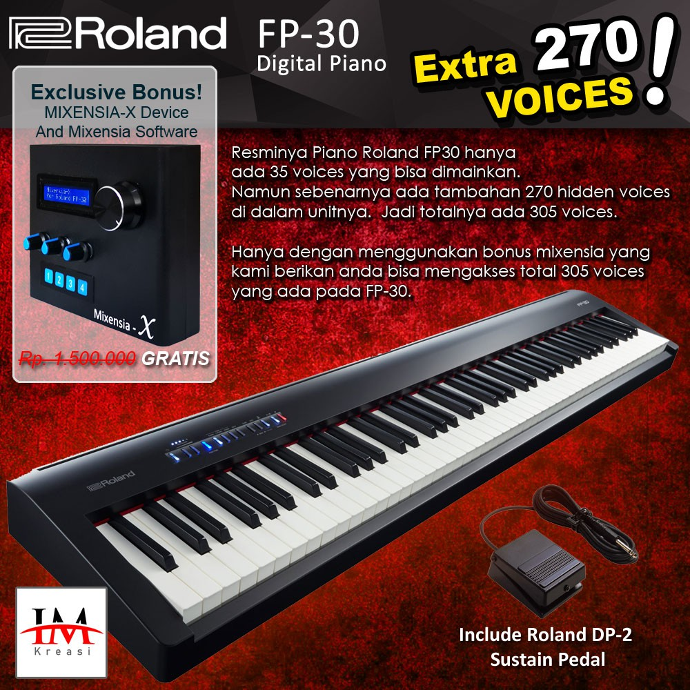 Roland Fp30 Bundle Mixensia X Fp 30 Digital Piano Shopee Indonesia